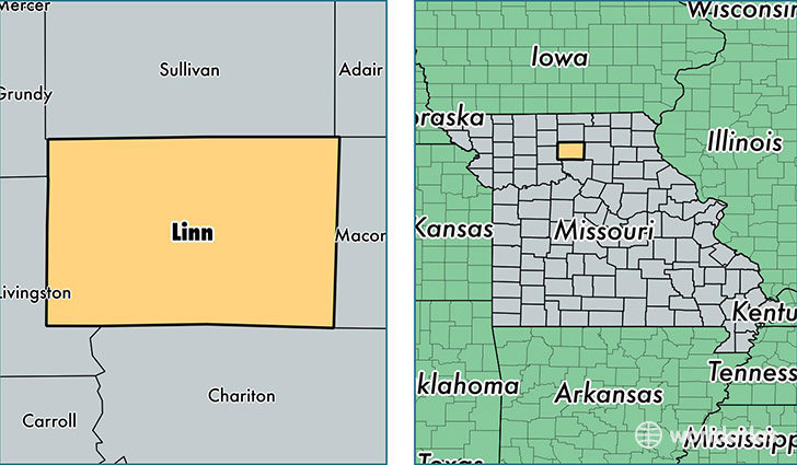 location of Linn county on a map