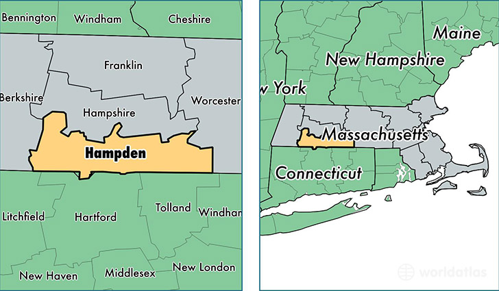 Hampden County Massachusetts Map of Hampden County MA Where