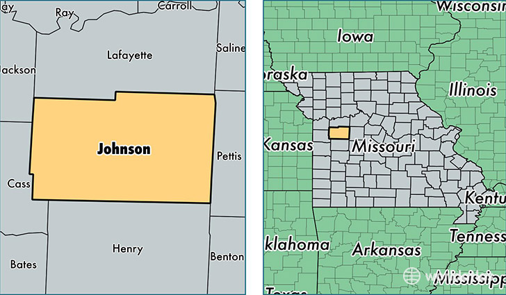 location of Johnson county on a map