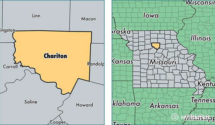 location of Chariton county on a map