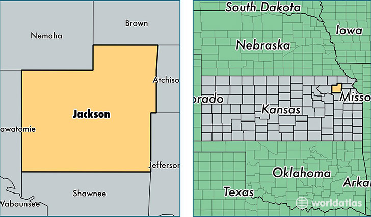 location of Jackson county on a map