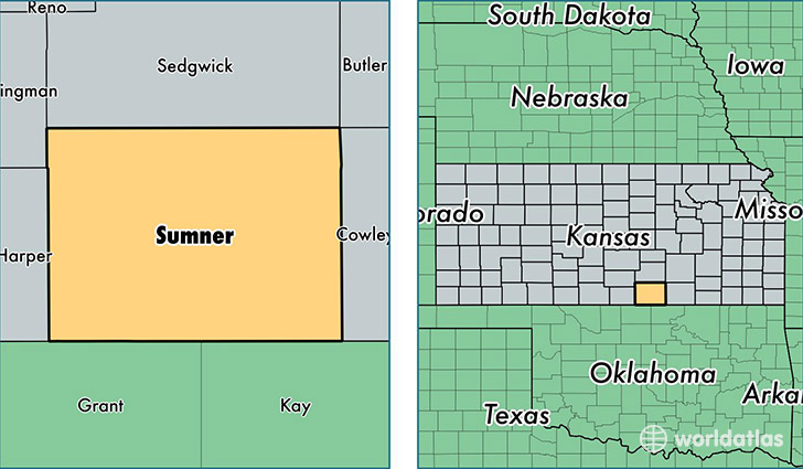 Sumner County Kansas Map.Sumner County Kansas Map Of Sumner County Ks Where Is Sumner