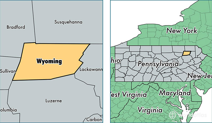 Wyoming County, Pennsylvania / Map of Wyoming County, PA / Where is ...
