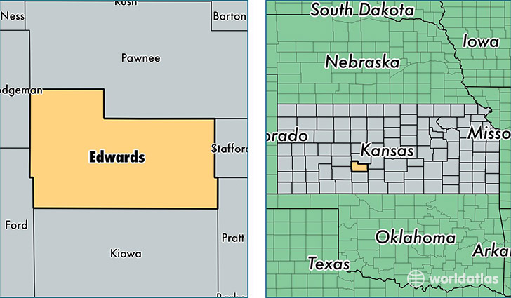 location of Edwards county on a map