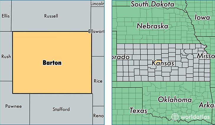 location of Barton county on a map