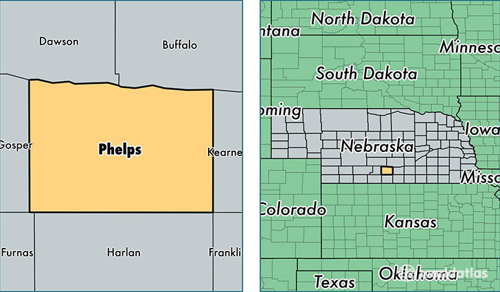 location of Phelps county on a map