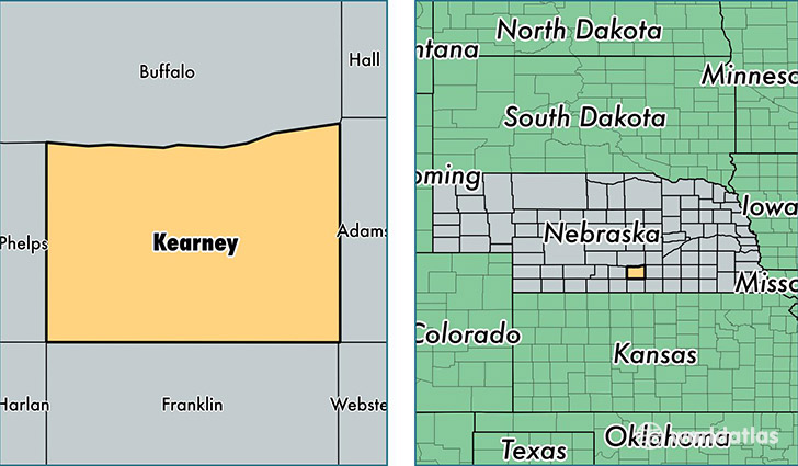 location of Kearney county on a map
