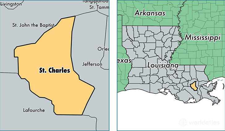 location of Saint Charles county on a map