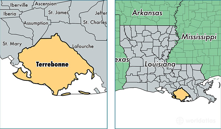 Location Of Terrebonne County On A Map