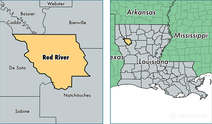 Map Of Red River Red River Parish, Louisiana / Map of Red River Parish, LA / Where  Map Of Red River