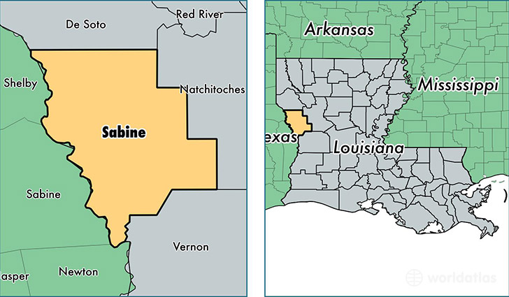 Louisiana Map Parishes.Sabine Parish Louisiana Map Of Sabine Parish La Where Is