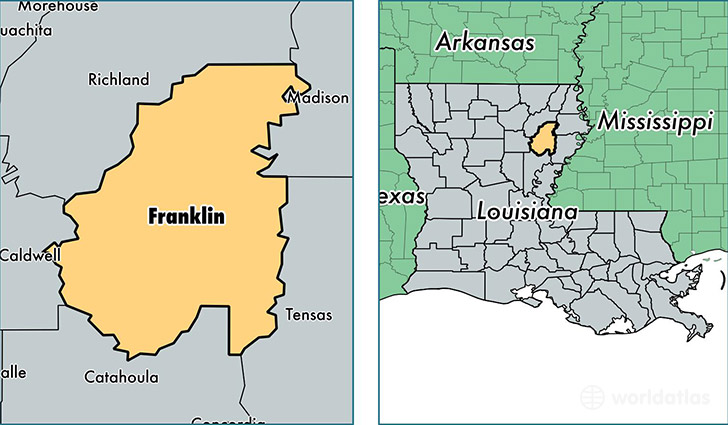 Franklin Parish Louisiana Map Of Franklin Parish LA Where Is - Franklin on us map