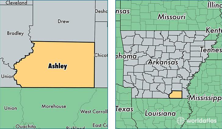 Ashley County Arkansas Map Of Ashley County AR Where Is - Ar map