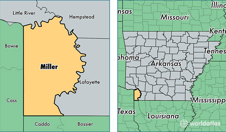 location of Miller county on a map
