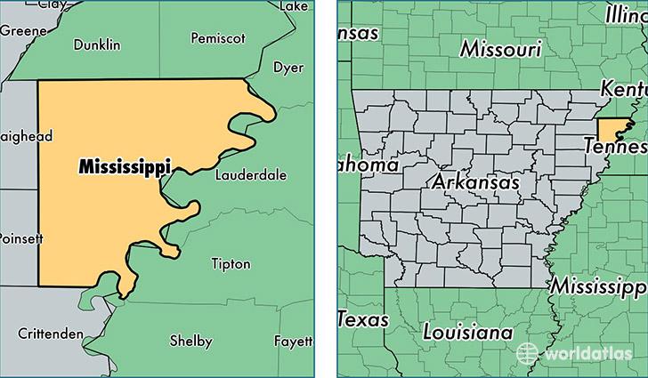 Mississippi County Arkansas Map Of Mississippi County AR - Counties in arkansas map