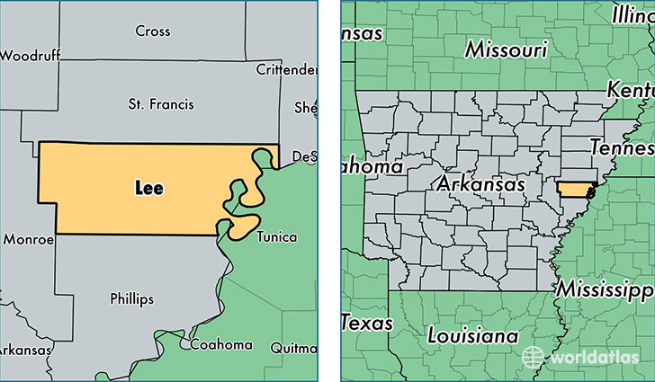 Lee County Arkansas Map Of Lee County Ar Where Is
