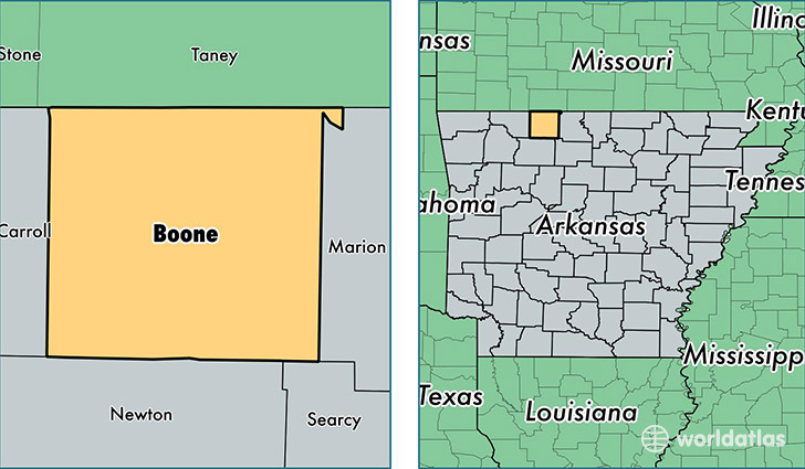 Boone County, Arkansas / Map of Boone County, AR / Where is Boone