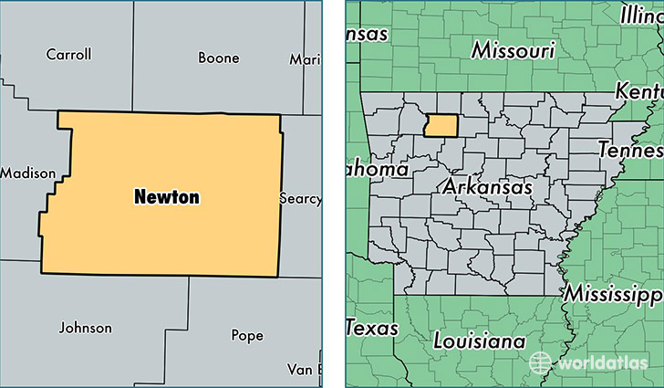 location of Newton county on a map