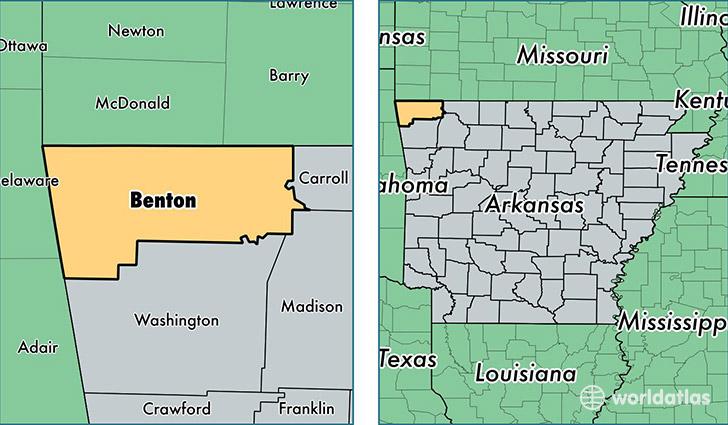 Benton County Arkansas Map Of Benton County AR Where Is - Ar map