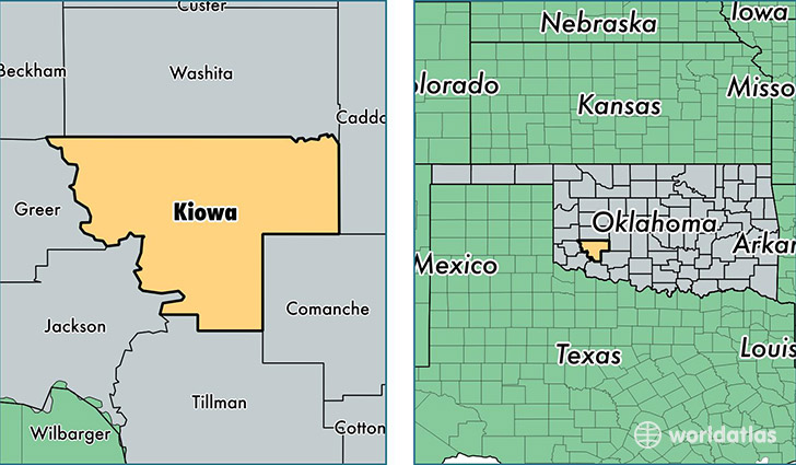 location of Kiowa county on a map