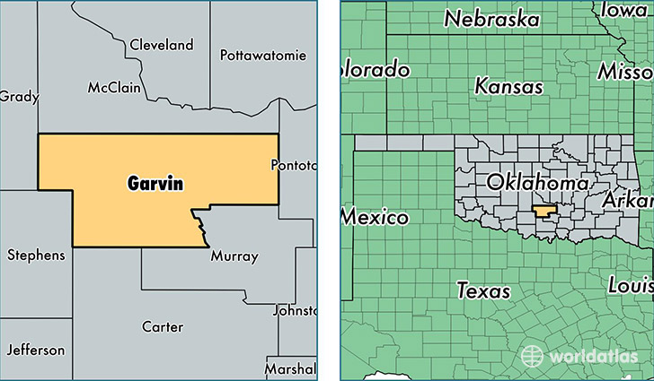 Oklahoma Map Showing Counties.Garvin County Oklahoma Map Of Garvin County Ok Where Is Garvin