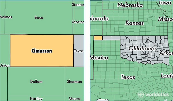 Cimarron County, Oklahoma / Map of Cimarron County, OK / Where is