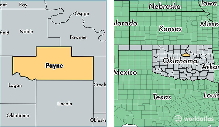 Payne County Oklahoma Map Of Payne County Ok Where Is Payne