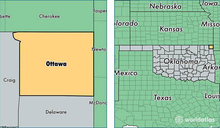 Ottawa County Oklahoma Map Of Ottawa County OK Where Is - Where is ottawa