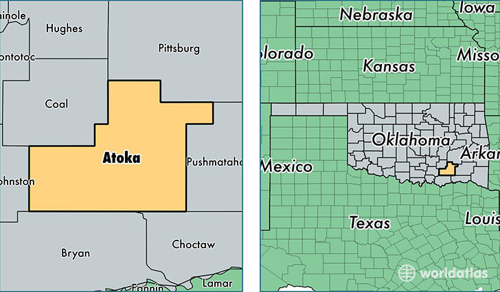 Atoka County, Oklahoma / Map of Atoka County, OK / Where is Atoka