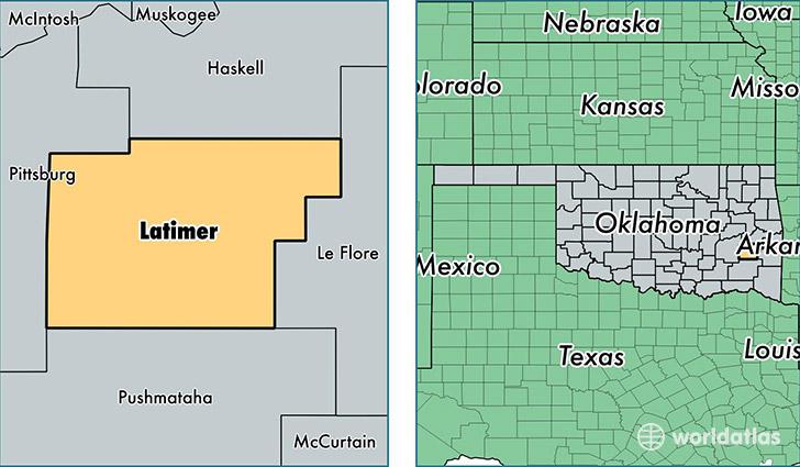 Leflore County Oklahoma Map.Latimer County Oklahoma Map Of Latimer County Ok Where Is