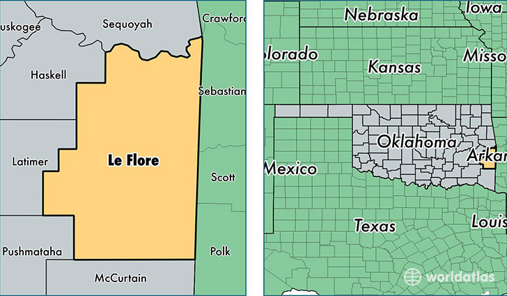 Talihina Oklahoma Map.Leflore County Oklahoma Map Of Leflore County Ok Where Is