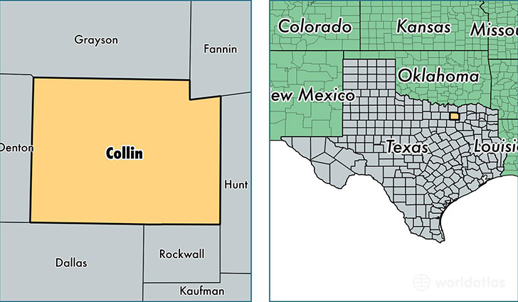 location of Collin county on a map