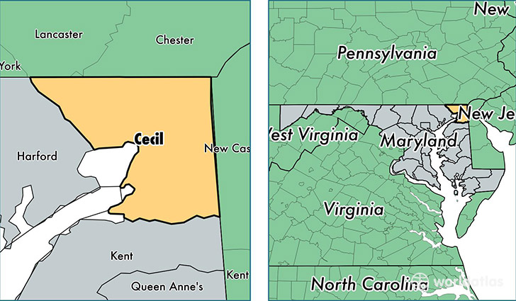 Cecil County Md Map on
