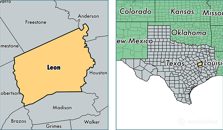 location of Leon county on a map