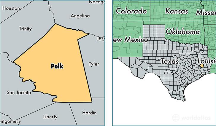 Polk County Texas Map Of Polk County TX Where Is Polk County - Polk us map