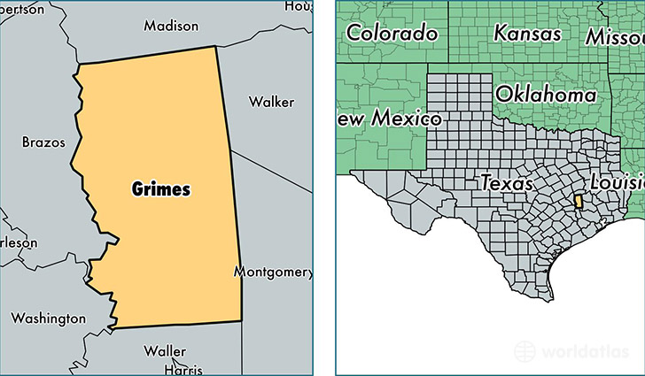 Grimes County Texas Map