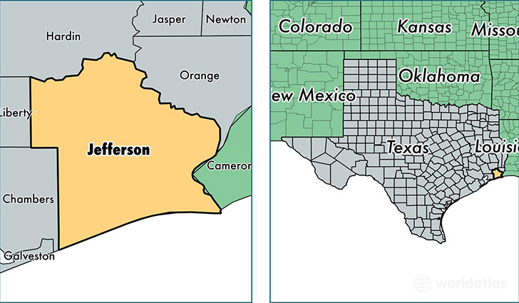 jefferson county texas map of jefferson county tx where is