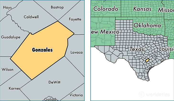 Map Of Gonzales Texas
