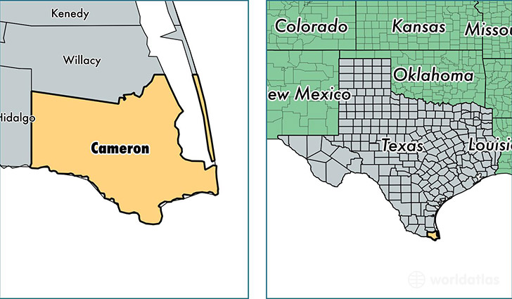 Cameron County, Texas / Map of Cameron County, TX / Where ... Cameron County