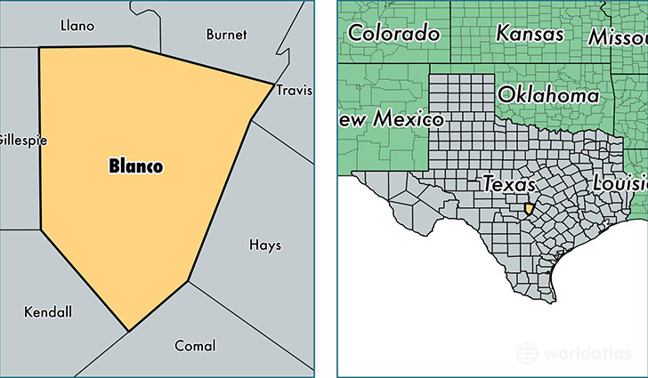 Blanco (TX) United States  city pictures gallery : Blanco County, Texas / Map of Blanco County, TX / Where is Blanco ...
