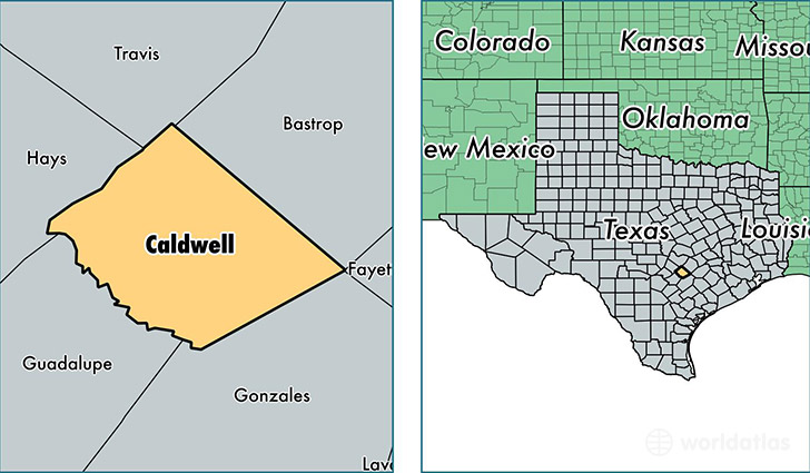 Caldwell County Texas Map Of Caldwell County TX Where Is - Us Map Texas