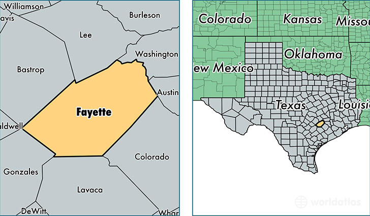 Fayette County Texas Map