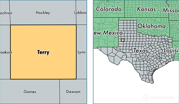 location of Terry county on a map