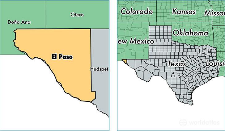 El Paso County Texas Map of El Paso County TX Where is El