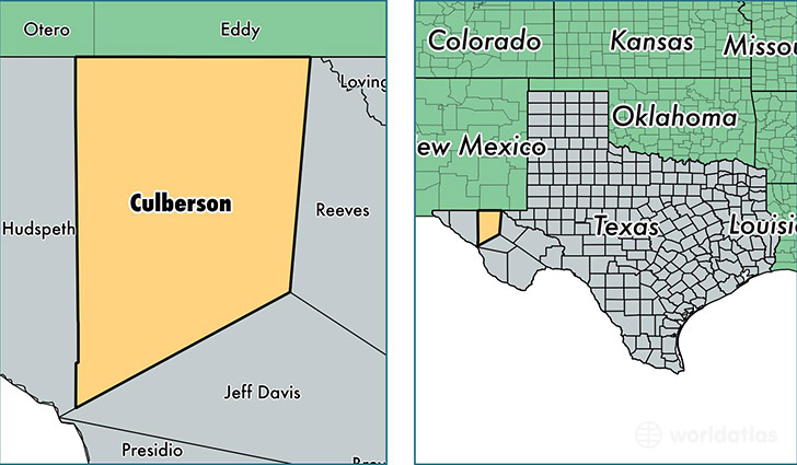 location of Culberson county on a map