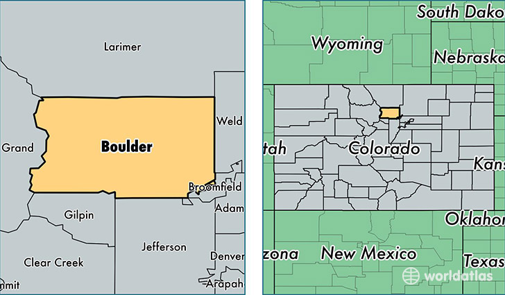 location of Boulder county on a map