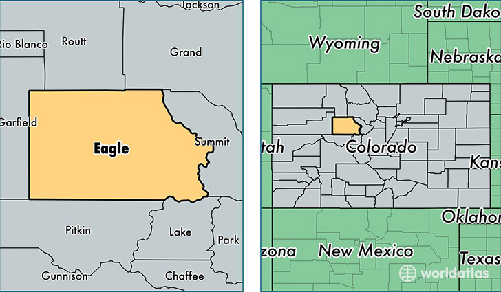 location of Eagle county on a map