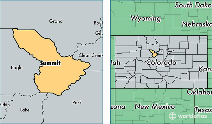 location of Summit county on a map
