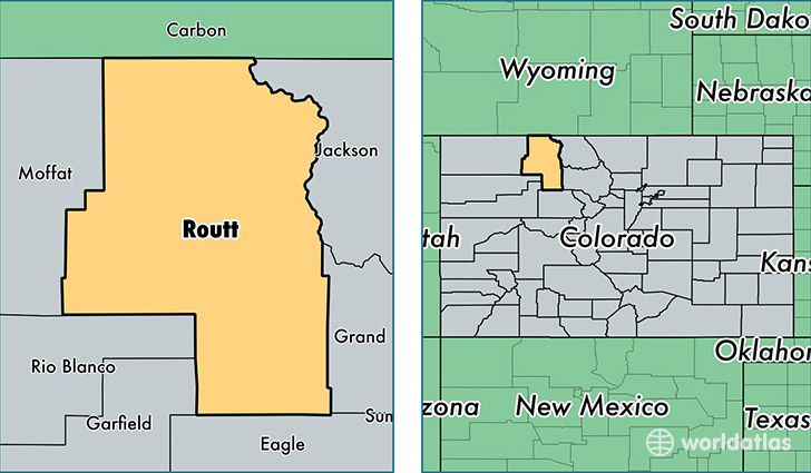 Routt County, Colorado / Map of Routt County, CO / Where is Routt
