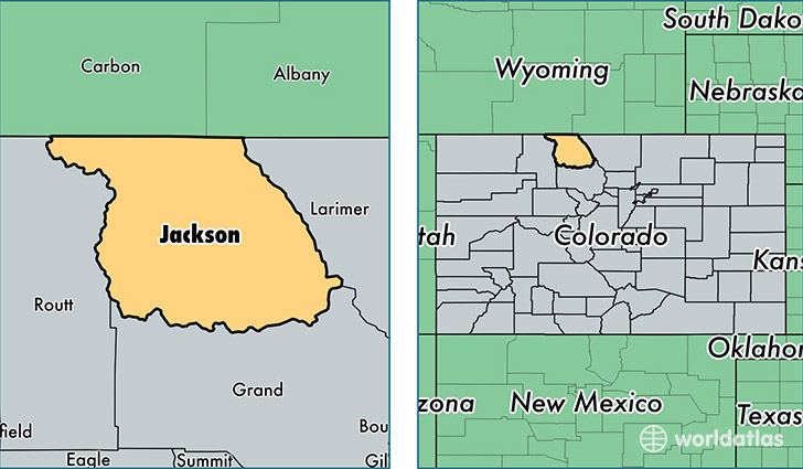 Jackson County Colorado Map Of Jackson County Co Where Is